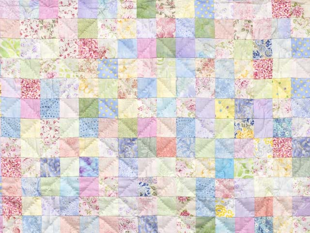 Pastels and Cream Hit or Miss Crib Quilt Photo 2