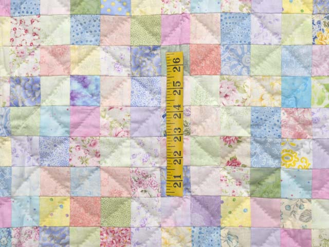 Pastels and Cream Hit or Miss Crib Quilt Photo 3