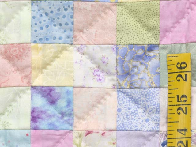 Pastels and Cream Hit or Miss Crib Quilt Photo 4