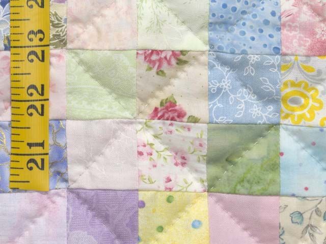 Pastels and Cream Hit or Miss Crib Quilt Photo 5
