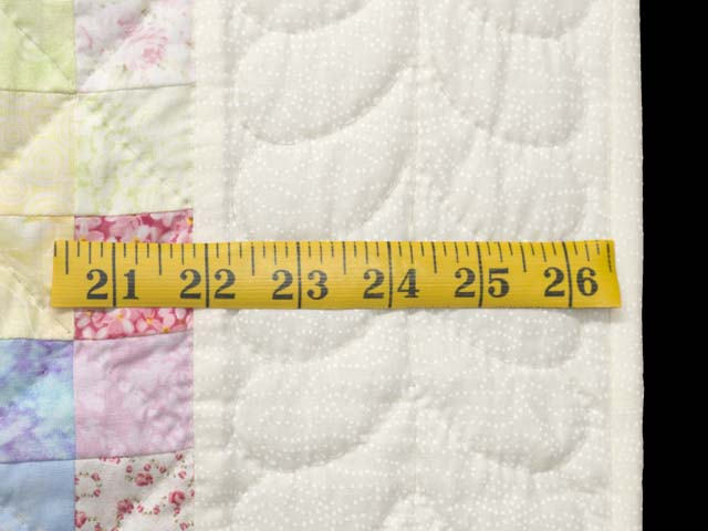 Pastels and Cream Hit or Miss Crib Quilt Photo 6
