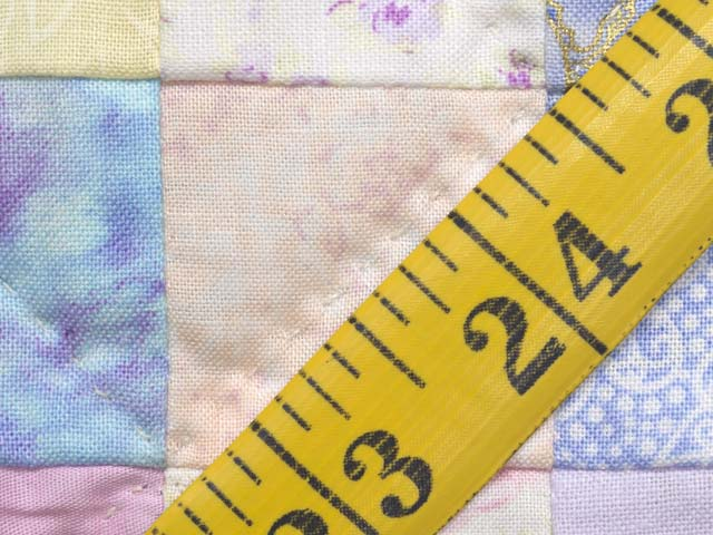 Pastels and Cream Hit or Miss Crib Quilt Photo 7