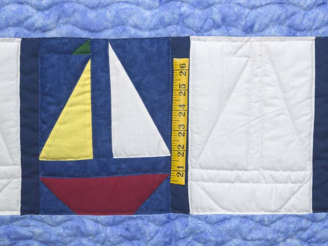 Primary Colors Sailboats Crib Quilt Photo 3