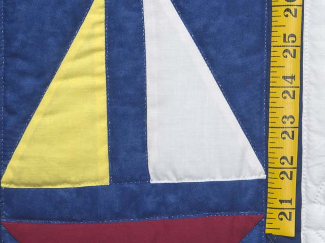 Primary Colors Sailboats Crib Quilt Photo 4