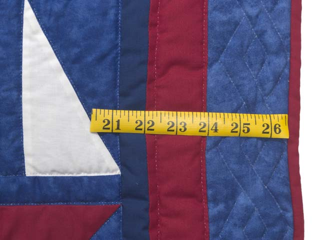 Primary Colors Sailboats Crib Quilt Photo 5
