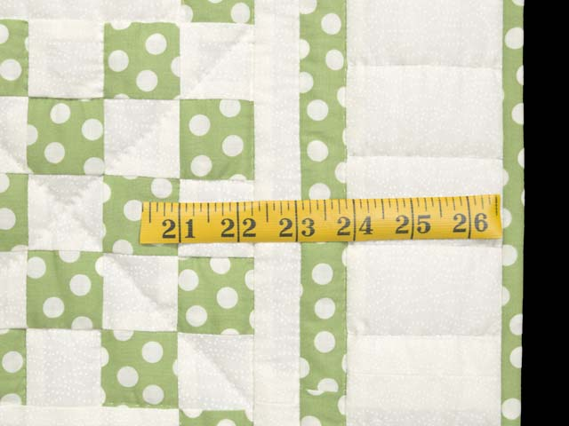 Green Dot Irish Chain Crib Quilt Photo 6