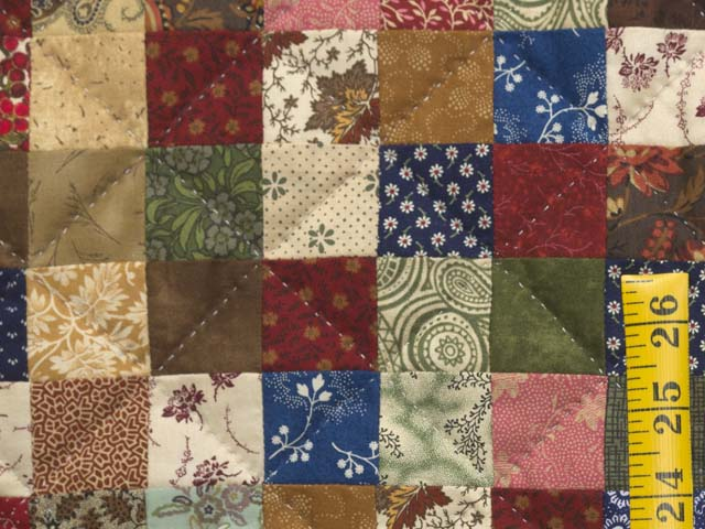 Tan and Multicolor Hit or Miss Crib Quilt Photo 4