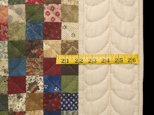 Tan and Multicolor Hit or Miss Crib Quilt Photo 6