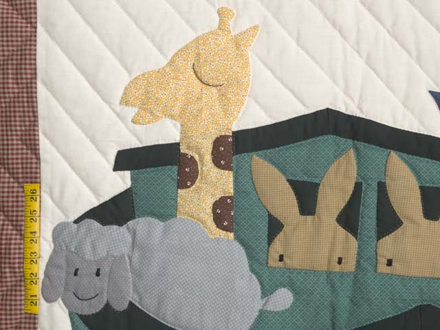 Plaid Noahs Ark Crib Quilt Photo 3