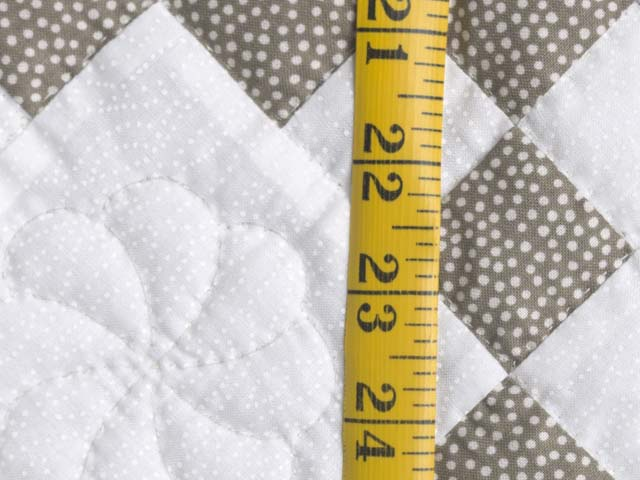 Cool Brown and White Nine Patch Crib Quilt Photo 4
