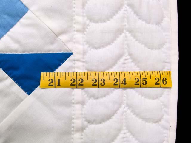 Navy Blue and Cream Pinwheels Crib Quilt Photo 5