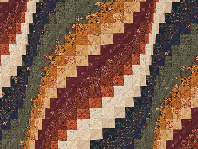 Navy, cheddar, burgundy, green  Bargello Wave Wall Hanging Photo 2
