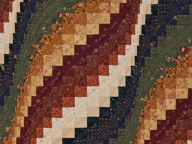 Navy, cheddar, burgundy, green  Bargello Wave Wall Hanging Photo 3