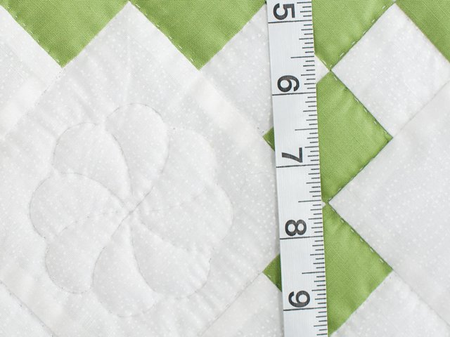 Spring Green and White Nine Patch Crib Quilt Photo 4