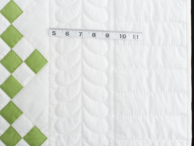 Spring Green and White Nine Patch Crib Quilt Photo 5
