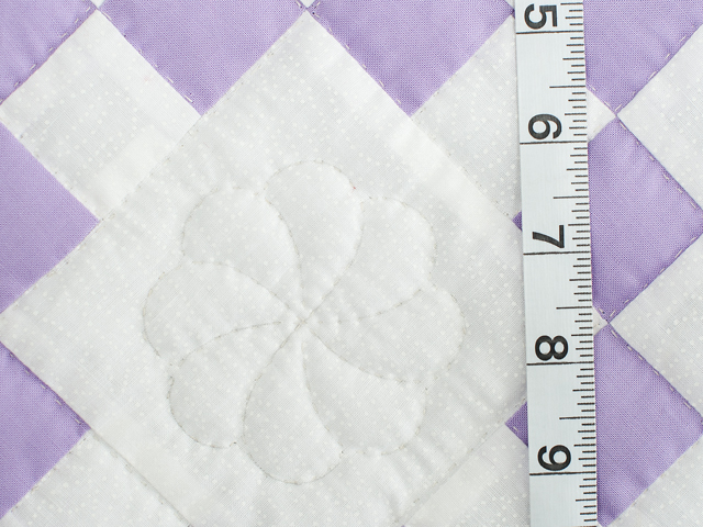 Soft Lavender and White Nine Patch Crib Quilt Photo 4