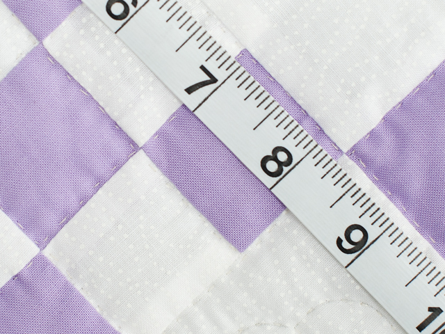 Soft Lavender and White Nine Patch Crib Quilt Photo 6