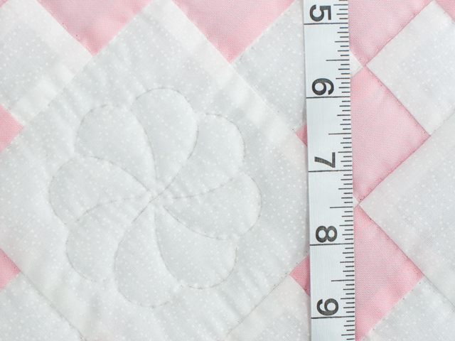 Soft Pink and White Nine Patch Crib Quilt Photo 4