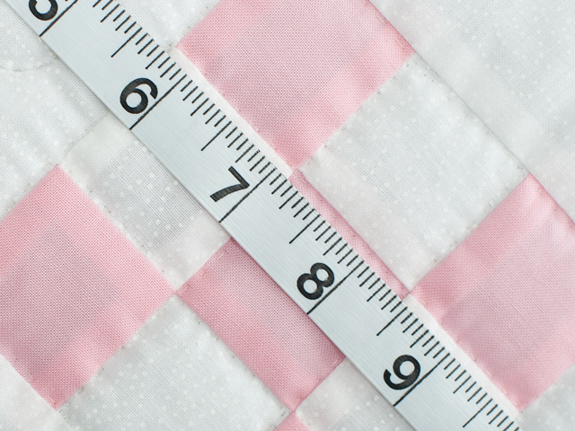 Soft Pink and White Nine Patch Crib Quilt Photo 6