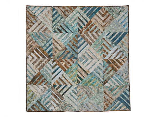 Batik Underwater Blues Wall Quilt Photo 1
