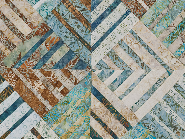 Batik Underwater Blues Wall Quilt Photo 5