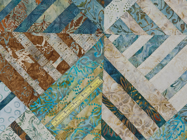 Batik Underwater Blues Wall Quilt Photo 6