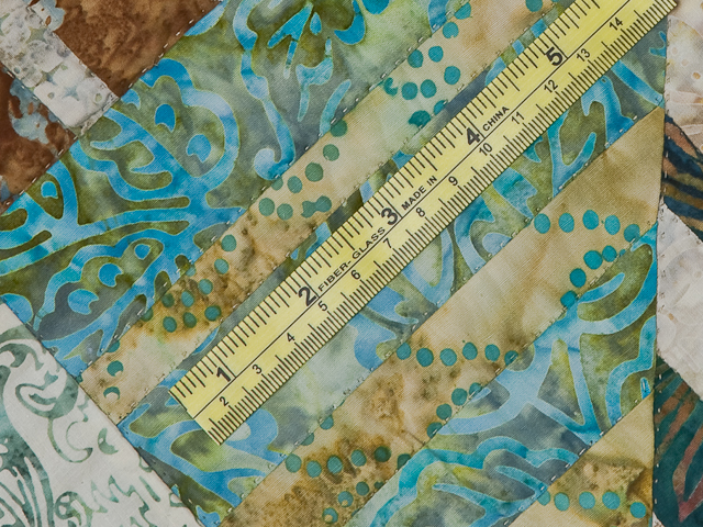 Batik Underwater Blues Wall Quilt Photo 7