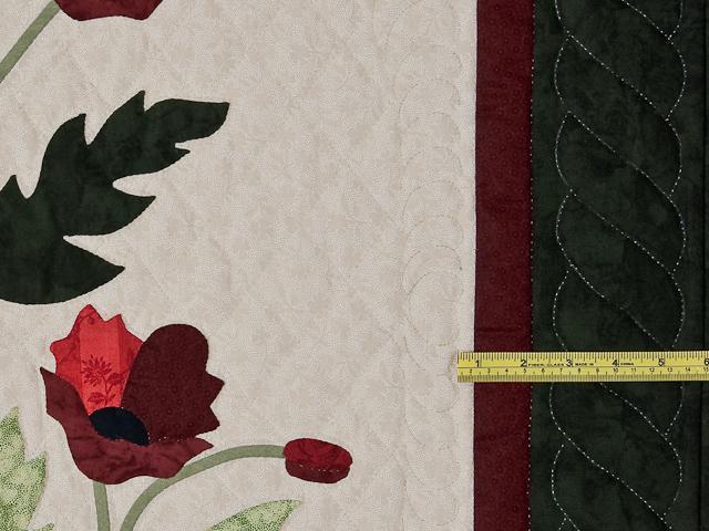 Dark Green and Crimson Poppy Fields Wall Hanging Photo 6