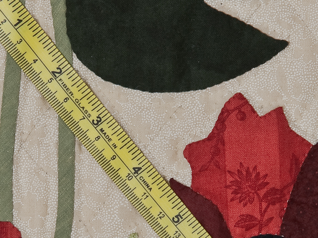Dark Green and Crimson Poppy Fields Wall Hanging Photo 7