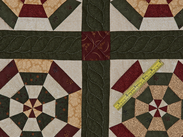Green, Burgundy and Tan Serendipity Wall Hanging Photo 6