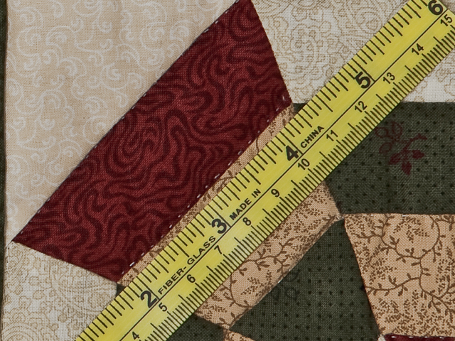 Green, Burgundy and Tan Serendipity Wall Hanging Photo 7