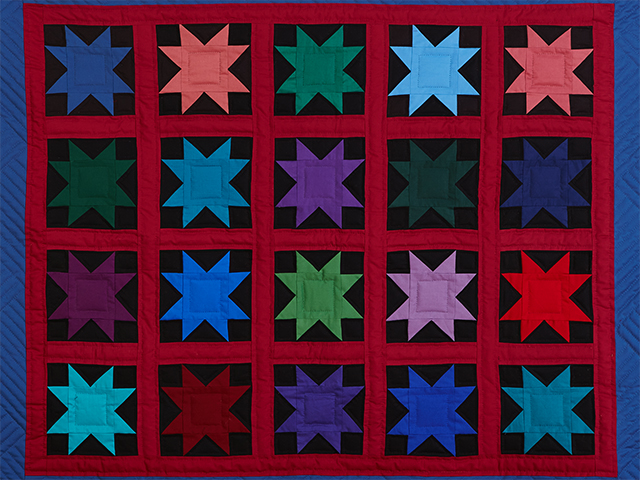 Amish Variable Star Throw Photo 2