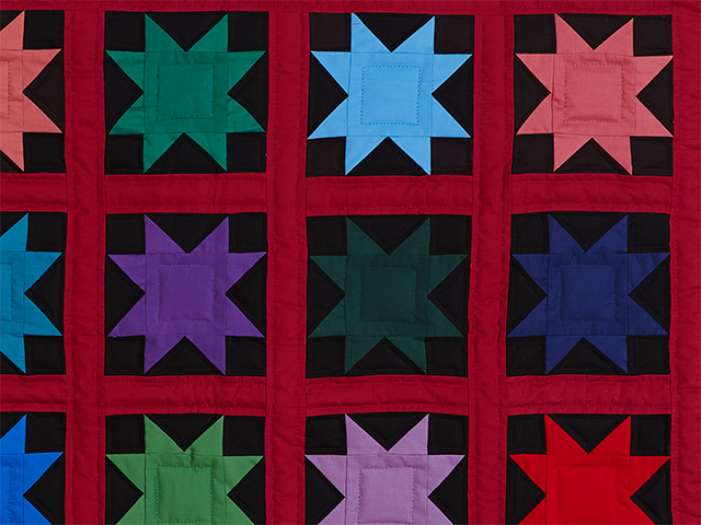 Amish Variable Star Throw Photo 3