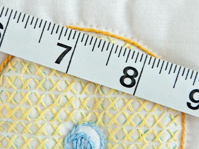Pink Cross Stitch ABC Bears Crib Quilt Photo 6