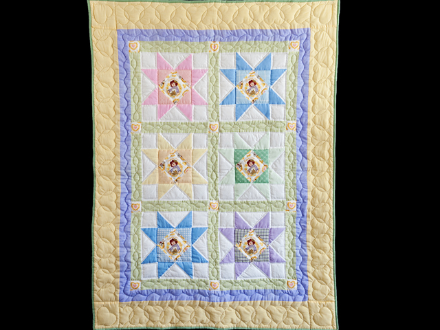 Pastel Stars Crib Quilt Photo 1