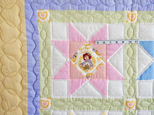 Pastel Stars Crib Quilt Photo 3