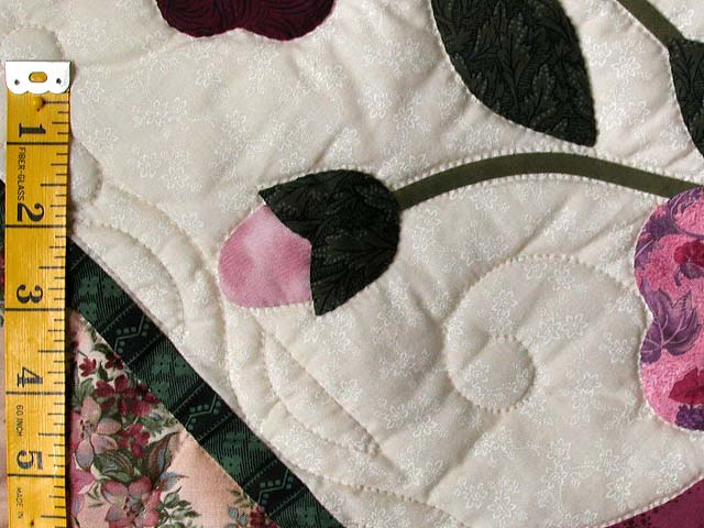 Raspberry and Green Victorian Rose Wall Hanging Photo 4