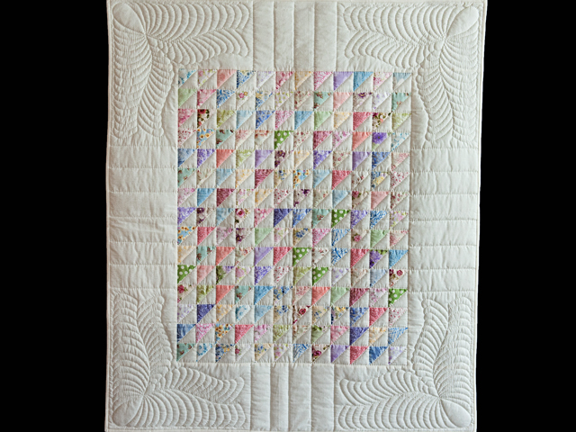 Pastel Triangles Crib Quilt Photo 1