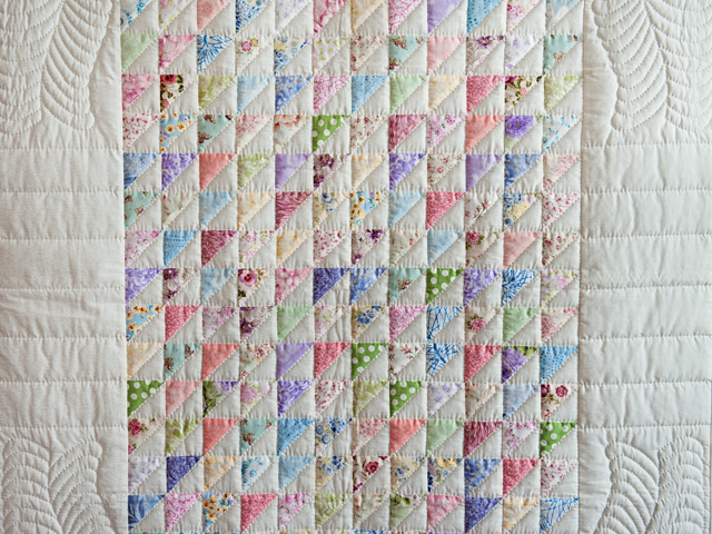 Pastel Triangles Crib Quilt Photo 2