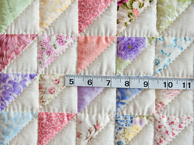 Pastel Triangles Crib Quilt Photo 3