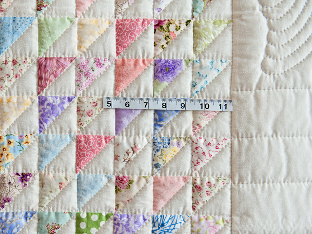 Pastel Triangles Crib Quilt Photo 5