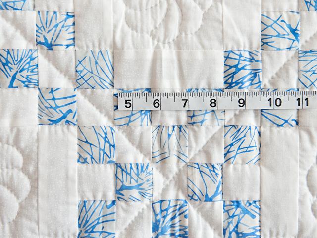 Pastel Blue and White Irish Chain Crib Quilt Photo 3