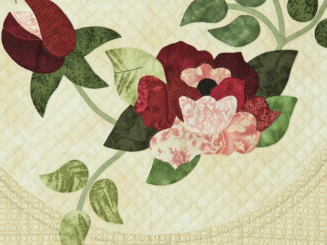 Burgundy and Neutral Rose Garden Wall Hanging Photo 4