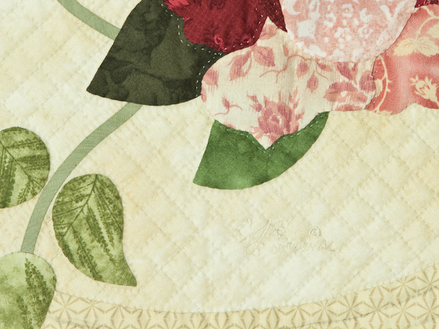 Burgundy and Neutral Rose Garden Wall Hanging Photo 5