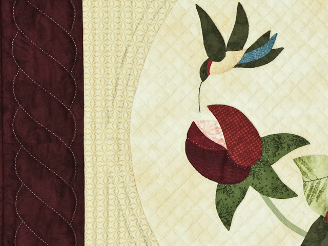 Burgundy and Neutral Rose Garden Wall Hanging Photo 6