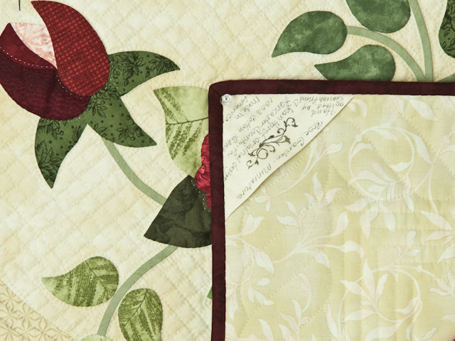 Burgundy and Neutral Rose Garden Wall Hanging Photo 7