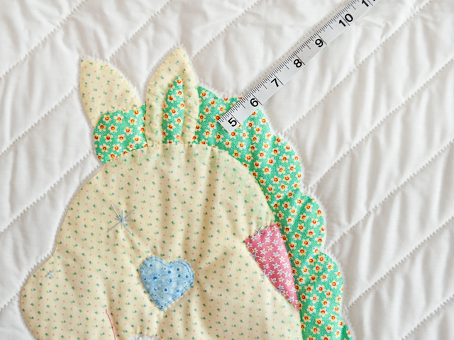 Pastel Rocking Horse Crib Quilt Photo 3