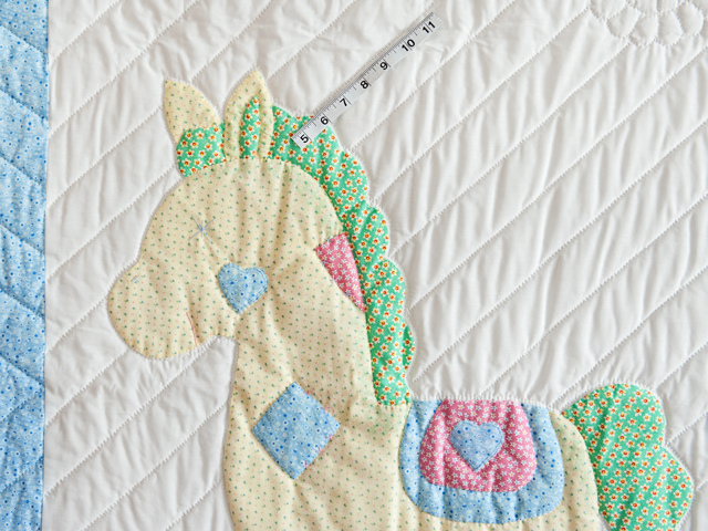 Pastel Rocking Horse Crib Quilt Photo 5
