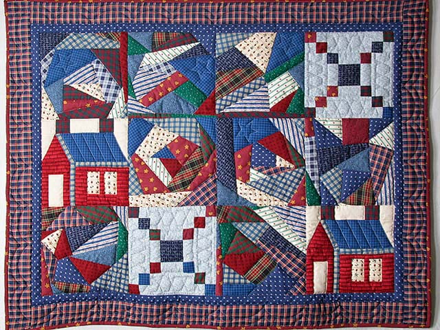 Crazy Patchwork Sampler Wall Hanging Photo 1