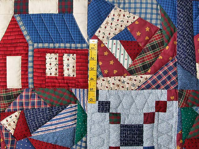 Crazy Patchwork Sampler Wall Hanging Photo 3